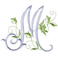 Download Rose Script M Embroidery Designs, Machine Embroidery ...