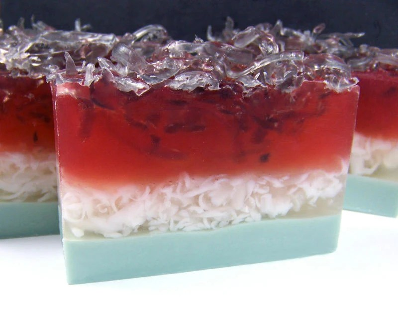 Handmade Glycerin Soap - Summer Watermelon - 1 Bar - ShopStellas