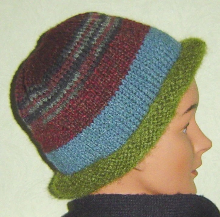 Earth colors hand knit hat beanie watch cap ski cap - AccessoriesByKelli