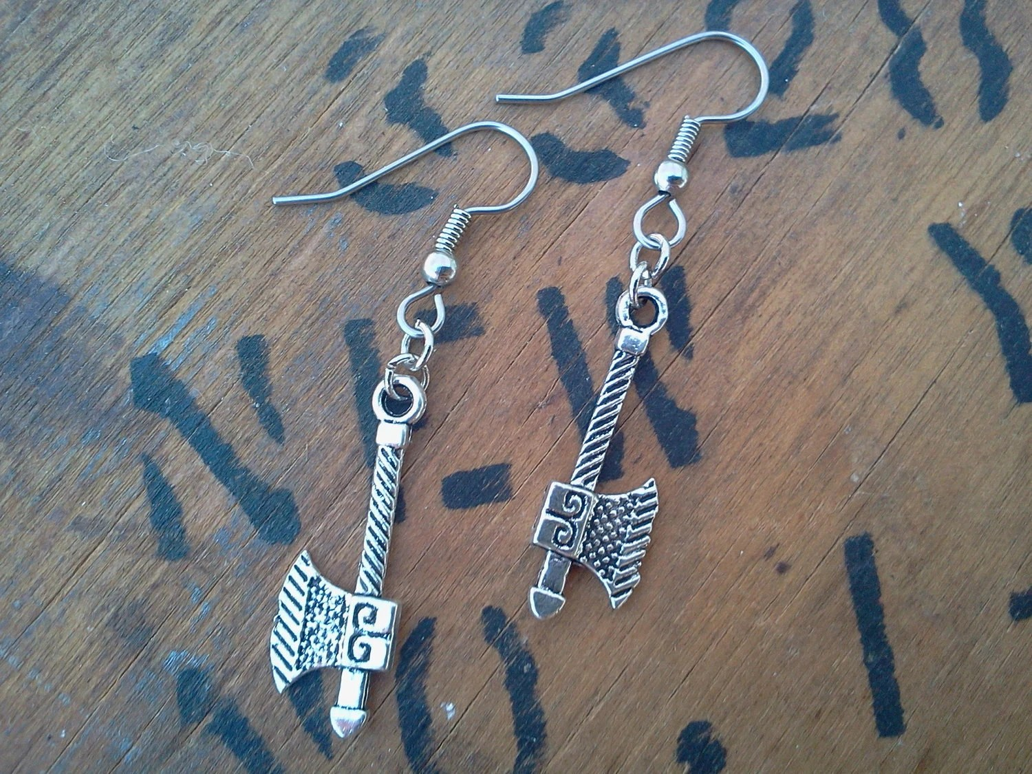 Warrior Woman Ax Earrings