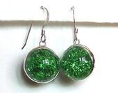 Light Green Marble Earrings - colorolight