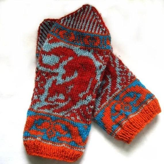 PDF knitting pattern-Kitsune Mittens