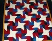 quilted throw -13 Thousand Stars - MooseCarolQuilts