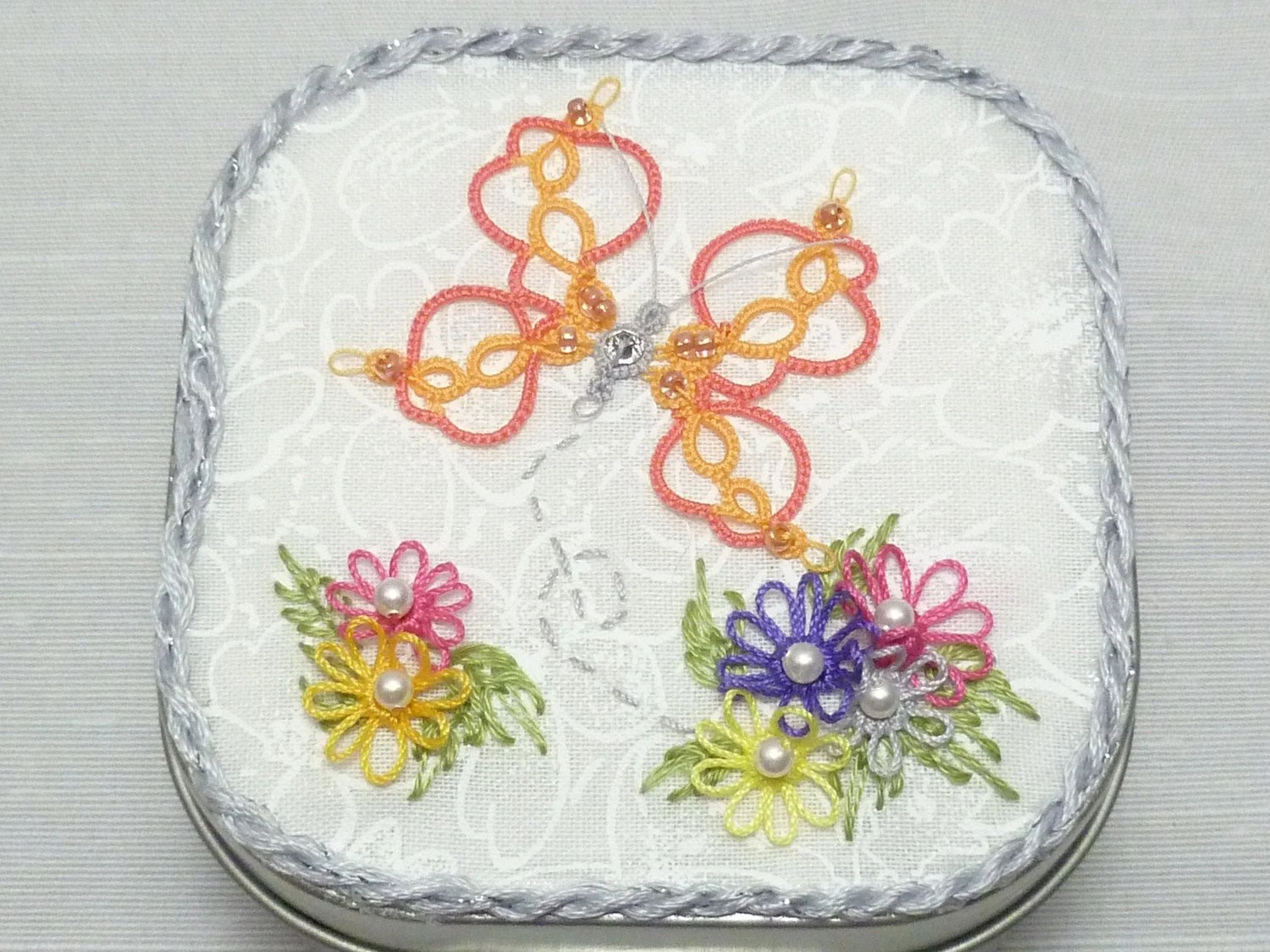 Tatted Lace Butterfly Garden -Sophie's Garden
