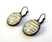 1963 London Times Vintage Brass  Lever Back Earrings - SovereignSea