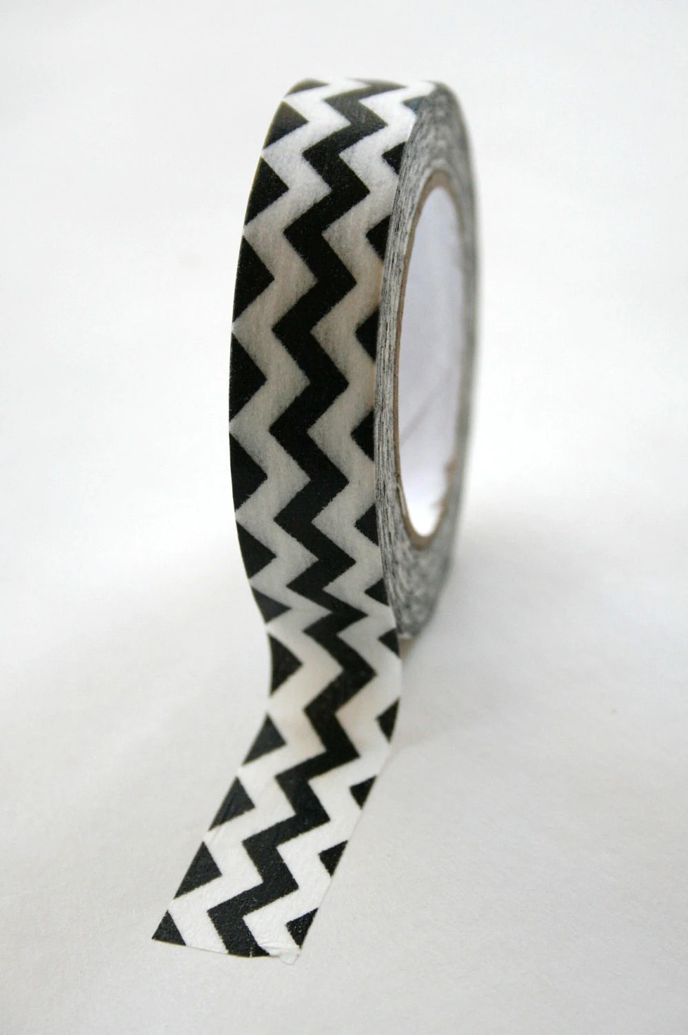 Washi Tape Black White Chevron - 15mm - Deco Tape - InTheClear