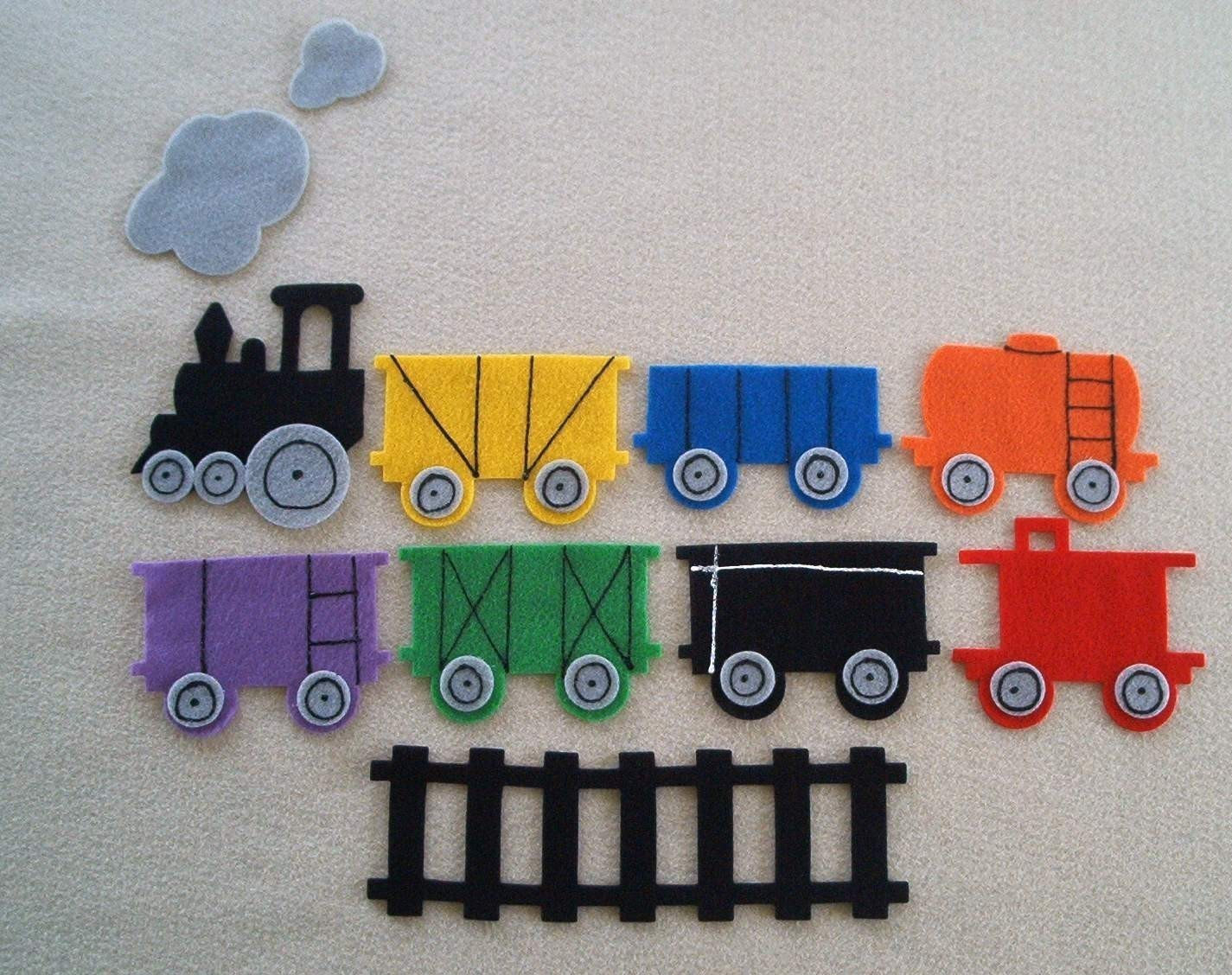 Freight Train Flannel Board Felt Story Set and Bonus