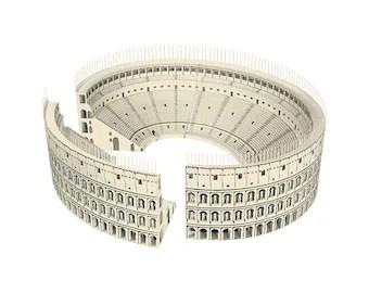 Roman Colosseum Paper Model (KIT)