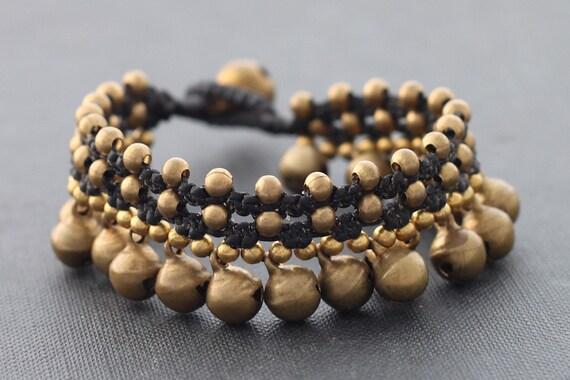 Lace Water Drop Brass Bell Bracelet