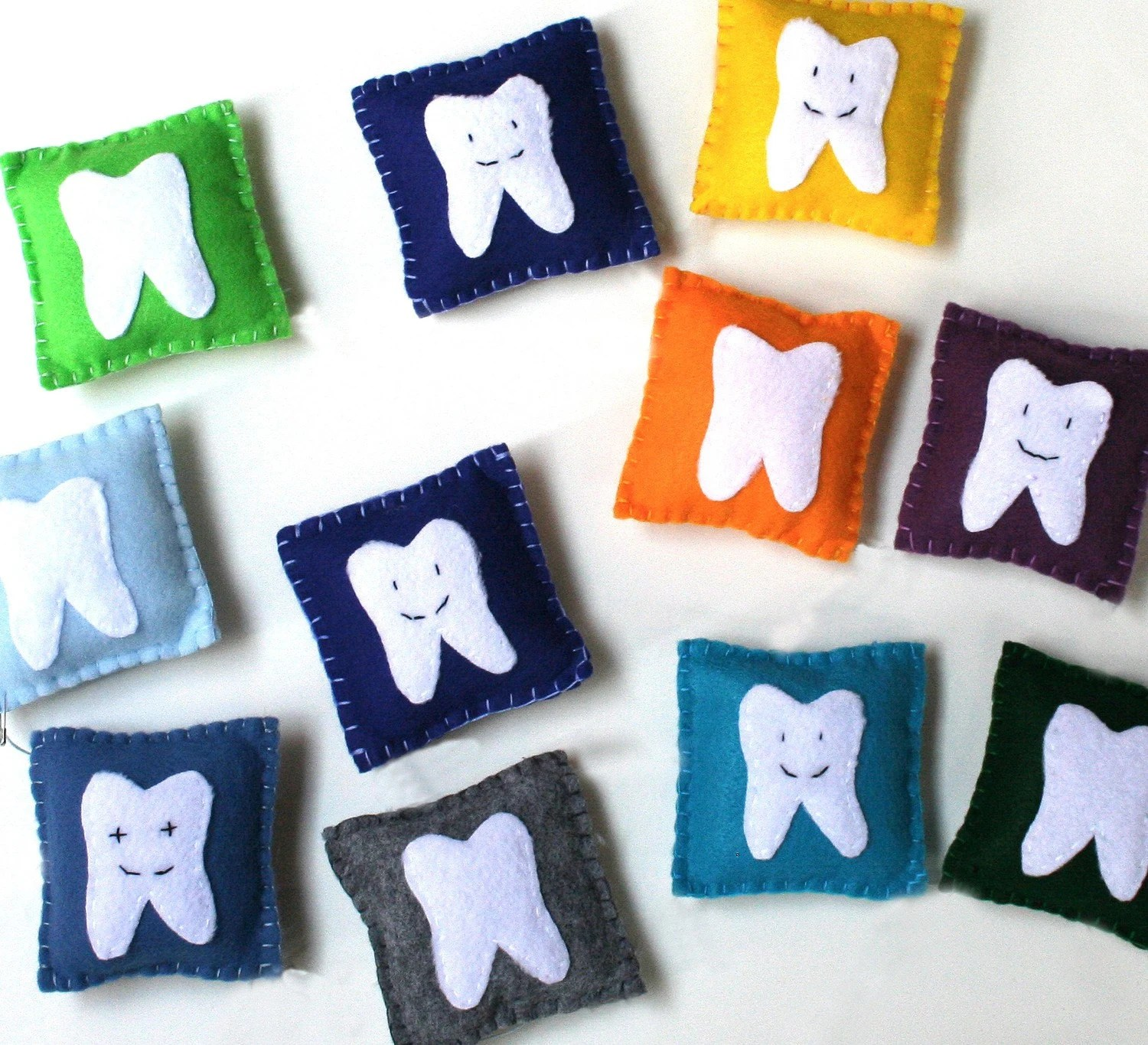 Tooth Fairy Pillow - Fun, Funky and Colorful little pockets for boy's or girl's lost teeth and treasures. - avisandiris