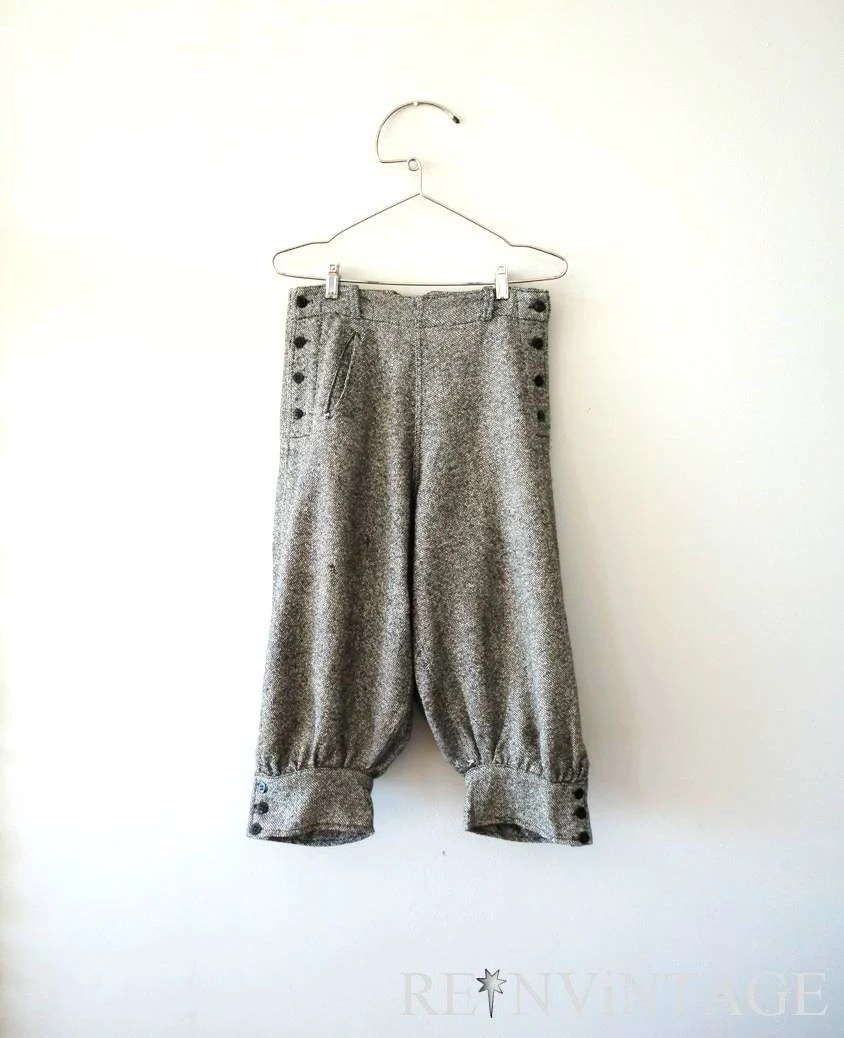 vintage 1920s knickers : tweed wool women's 20s knickers