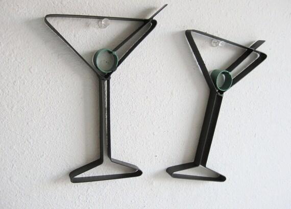 Martini Glass Metal Wall Decor - just4theartofit