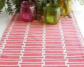 Red, White, Table Runner, Runner, Cloth Table Runner, 60 Inches - JoeyMiller