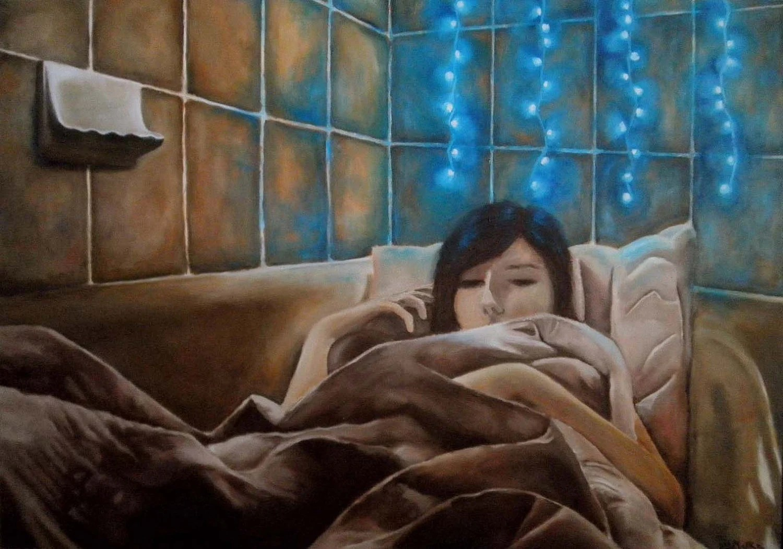 Girl Sleeping in Bathtub