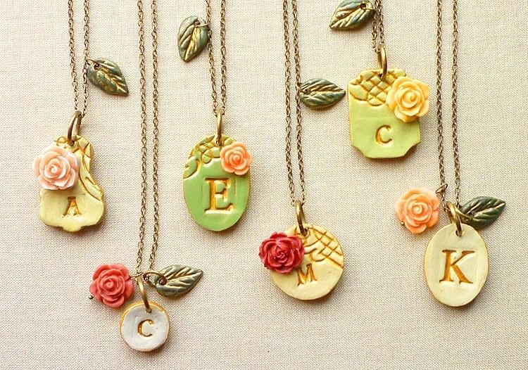 Victorian Garden Bridesmaid Necklaces - Rustic Chic Wedding -  Set of 6 - Palomaria