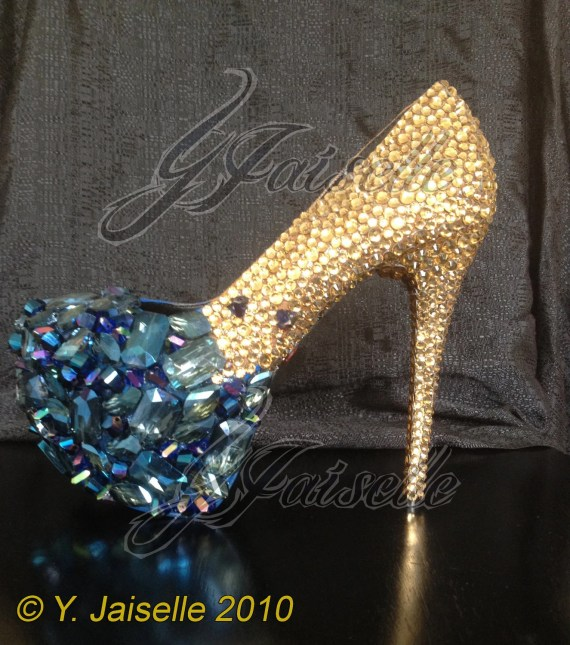 Crystal Heels with Embellished Toe - yhasminae