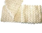 Crochet Scarf Cream White - pigswife