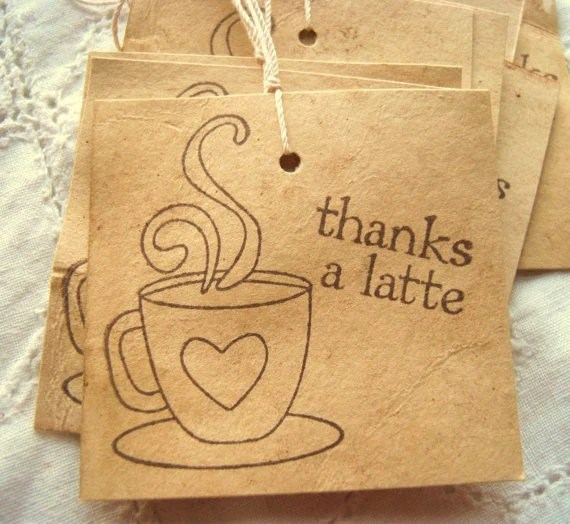 Thanks a Latte Hand Dyed Aged Hang Tags, Coffee, Aged 8 - SweetlyScrappedArt