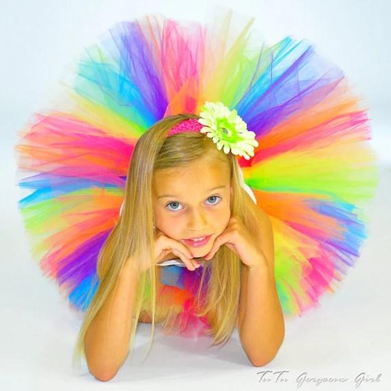 Bright Rainbow Tutu...Birthday, Photo Prop, Pageant, Halloween Costume...Sizes 2T 3T 4T 5/6 7/8 . . . CANDY RAINBOW TUTU - TutuGorgeousGirl