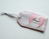Soft pink angel gift tag - hellogoodbyedesigns