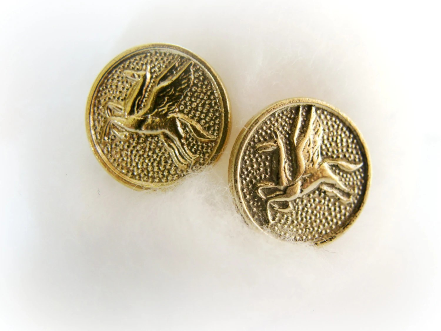 Icarus round post earrings-brass and sterling silver metalwork - FoxInTheBox
