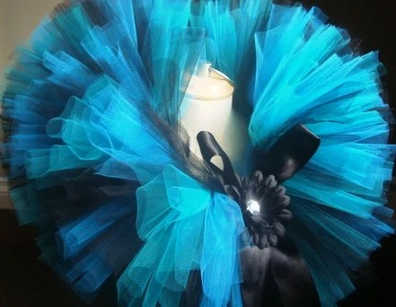 Black and Blue Tutu for Your Lil Rock Star Baby and Toddler Sizes Available Heaband and Flower Clip Included - LilCutiePatootieTutu