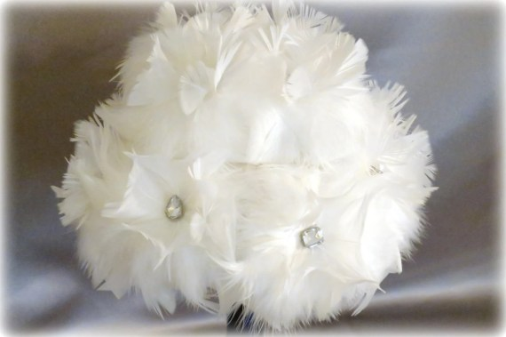 Feather Flowers Belle Set of Six for making DIY Brides Bouquets and Wedding Bouquets - MyEverAfter