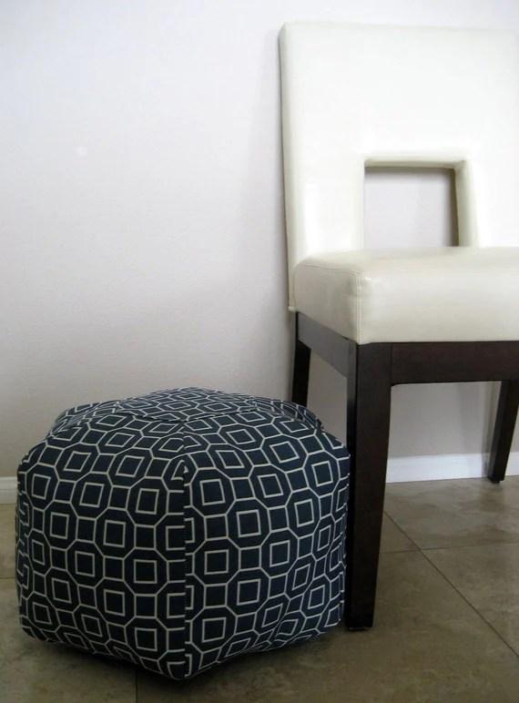 """18"""" Ottoman Pouf Floor Pillow P Kaufmann Soho Pool"""