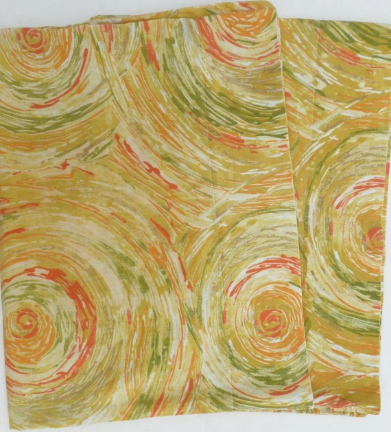 Mod Pillowcases Pair in Yellow, Mustard, Orange, Red, Olive Green and Taupe Abstract Circles by Cannon Pillow Case Set of Two - BornAtTheWrongTime