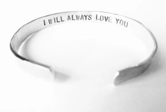 Personalized Bracelet Secret Message Womens Gift - I will always love you - christmas anniversary gift girlfriend wife - WyomingCreative