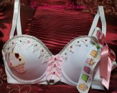 Cupcake Lovers Custom bra (36D) - EnchantingDesires