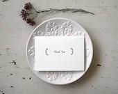 Wedding Thank You Cards - Bulk Order - Classic Elegant Style (50) - seabornpress