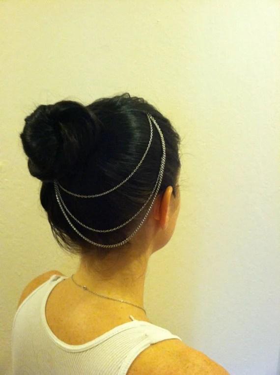 Silver Hair Chain- Inspired by Kim Kardashian - NLPNaturalDesigns