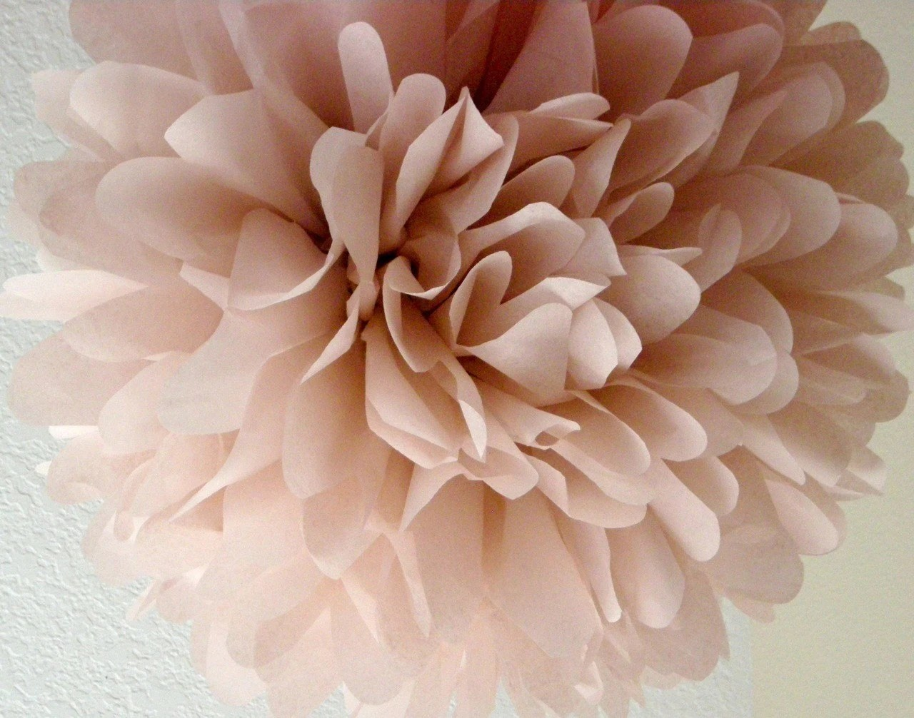 Dusty Pink ... 1 tissue paper pom // diy // wedding ceremony // reception // birthday // tea party // party decorations - PomLove