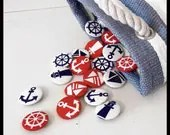 Nautical Fabric Badges - Pack of Four - KaelaMills