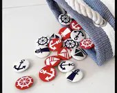 Nautical Fabric Badges - Pack of Four - KaelaMills