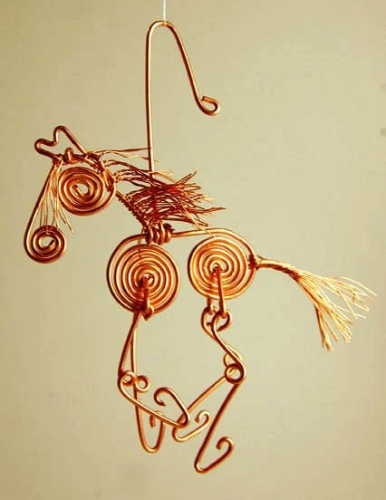 Copper Wire Horse Ornaments