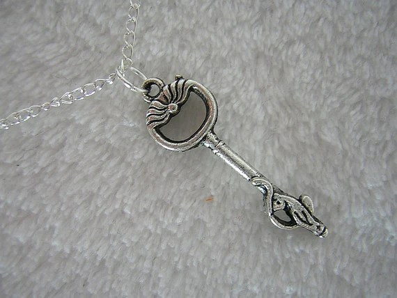 Cat Key Simple Charm Necklace - Handmade by Rewondered D225N-00855 - $8.95