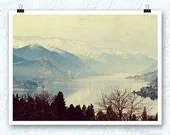 Columbia River gorge photography, dreamy, river, 11x14 print - BleuOiseau