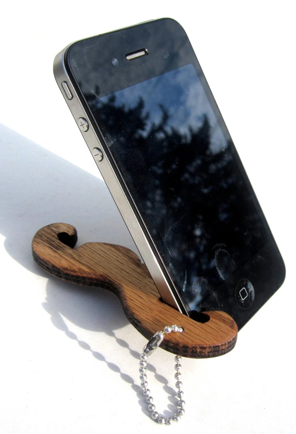 Emergency Moustache iPhone Stand
