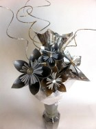 Silver & Gold Celebration - Paper Bouquet - Flowers - Origami - SGB - HappinessinBloom