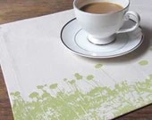 High Line Placemats in Citrus on Cream, Set of 4 - KayeRachelle