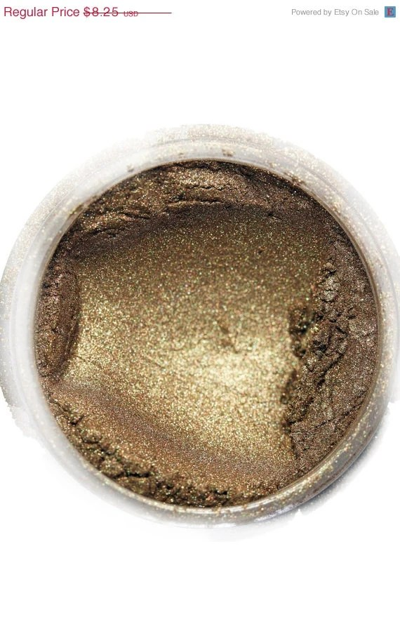 Makeup EyeShadow,  ( texture: jewel luster ) in shade , 'Pandoras Box ' mineral make up eye shadow, wet or dry, natural - CrushedBotanicals
