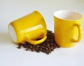 Corning Yellow Mugs - Set of 2