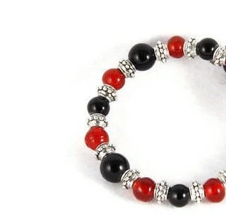 Red and Black Coil Bracelet - NouveauTique