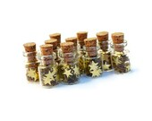 New Years Star Jars, Tiny Stars Set of 10, Cork Jar, Tiny Jar, Jar with Cork - thesetinytreasures