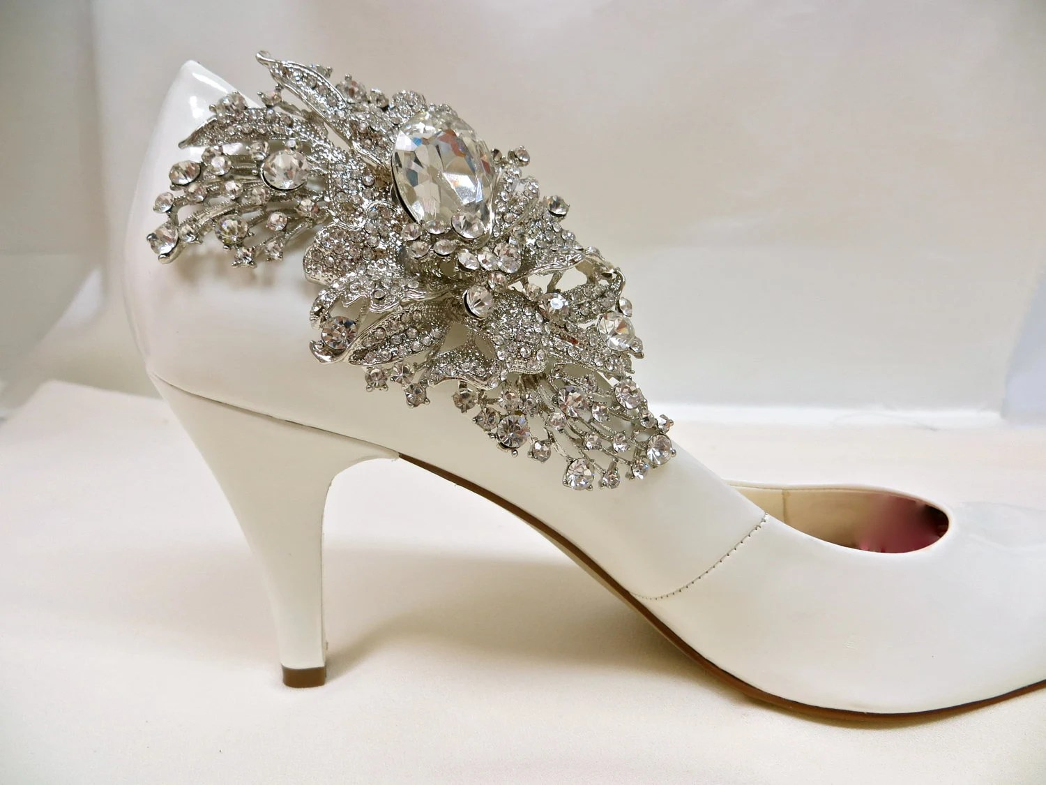 Bridal Shoe Clip-Crystal Jewel-Sparkling Rhinestone-Rhinestone Applique-Bridal Party-Set of 2 - ctroum
