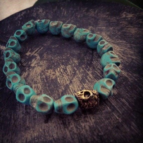 Howlit Skull turquoise bracelet