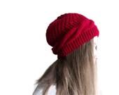 Spring  hat, handmade hat,  red hat, knitting hat, wool hat, ready to shipping. - beyazdukkan
