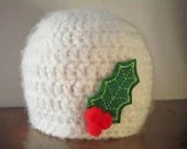 Holiday Baby Hat - Baby's First Christmas - Newborn Photo Prop - SquishyCouture